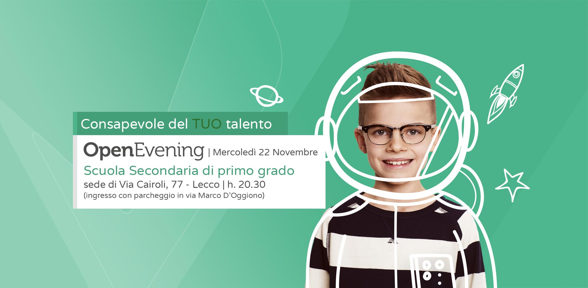 Open Evening scuola media Collegio Volta