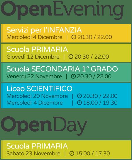 Open Day / Evening 2019 novembre