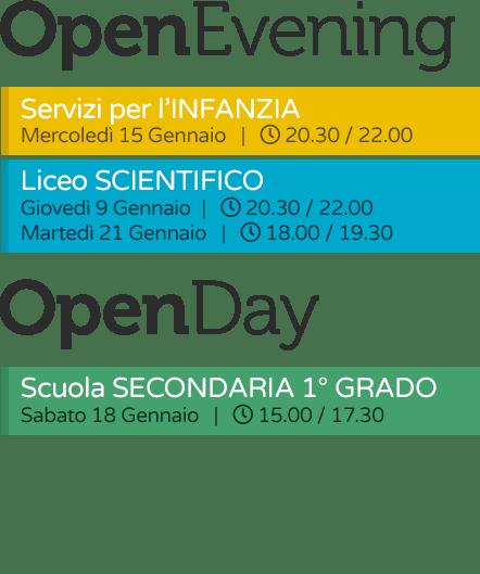 Open Day / Evening 2019 gennaio